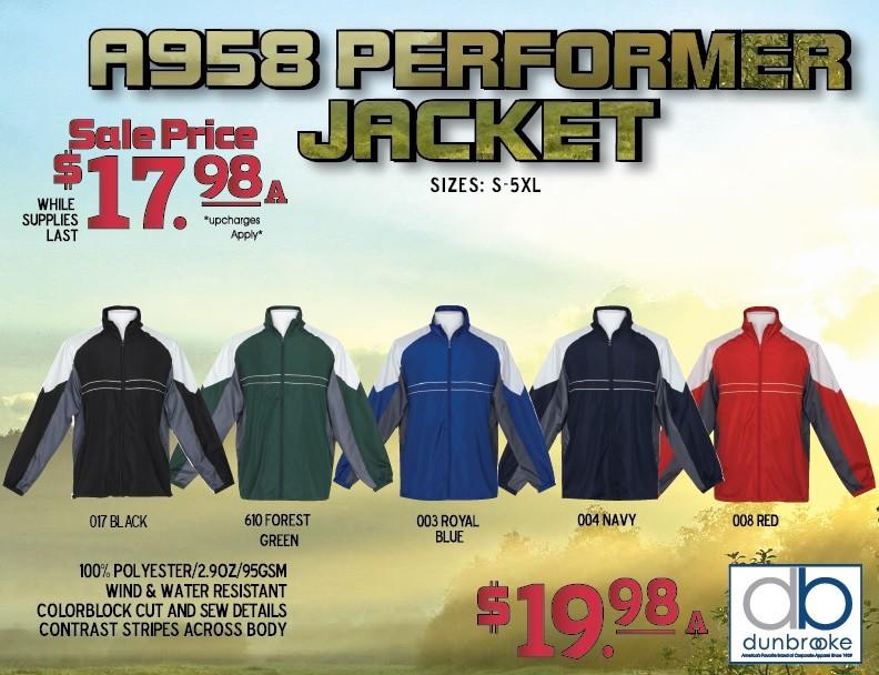 Dunbrooke Performer Jacket ~ While Supplies Last
